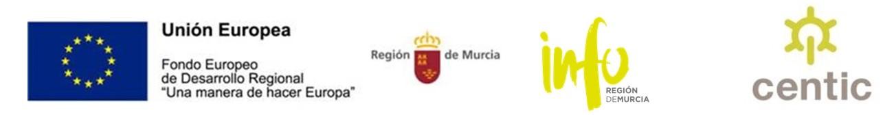 logos de europa región de Murcia Info y CENTIC