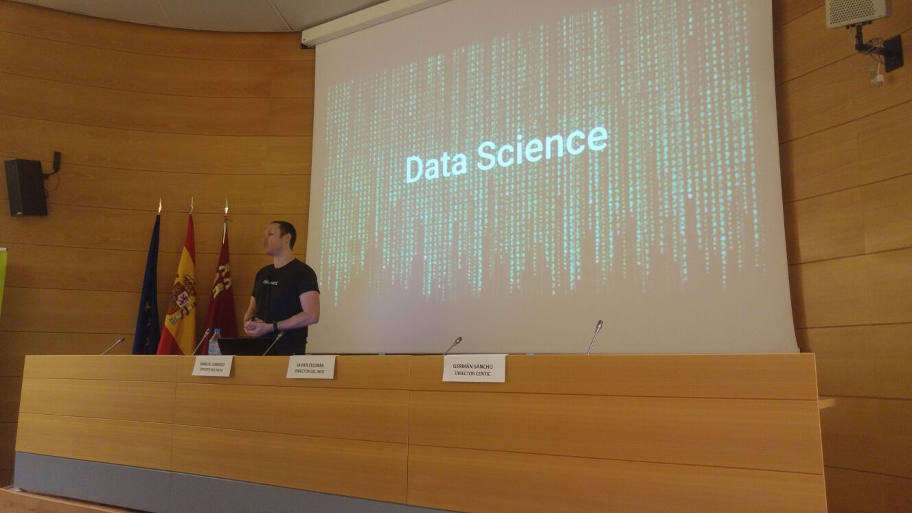 Manuel Garrido en la Jornada Data Science