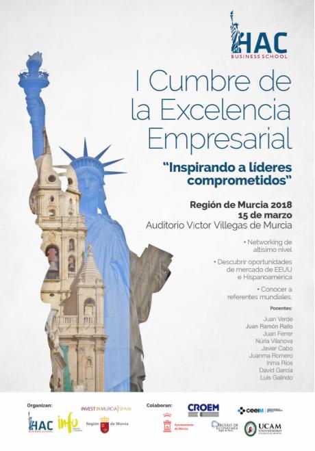 Cartel I Cumbre Excelencia Empresarial
