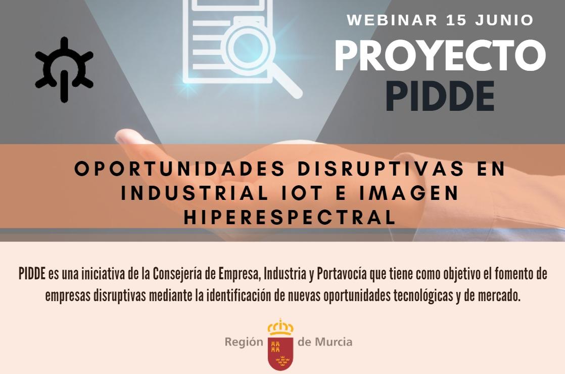 Webinar Resultados Pidde .Oportunidades Disruptiva IIoT e Imagen Hiperespectral